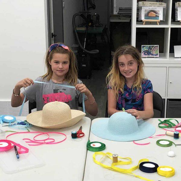 Threadheads ribbon embroideries on straw hats