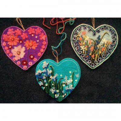 Wool Painting Heart Kit