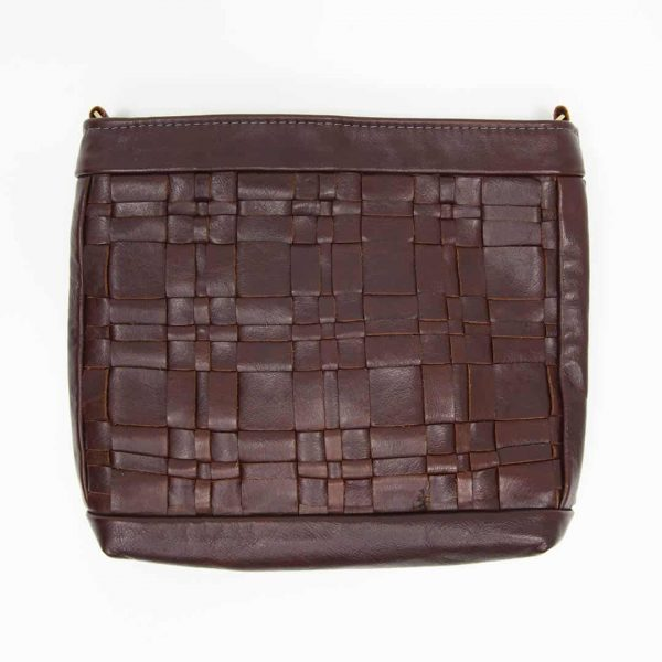 Chestnut Woven Leather