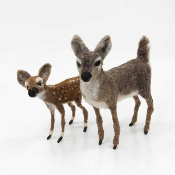 Felted Fawn and Doe