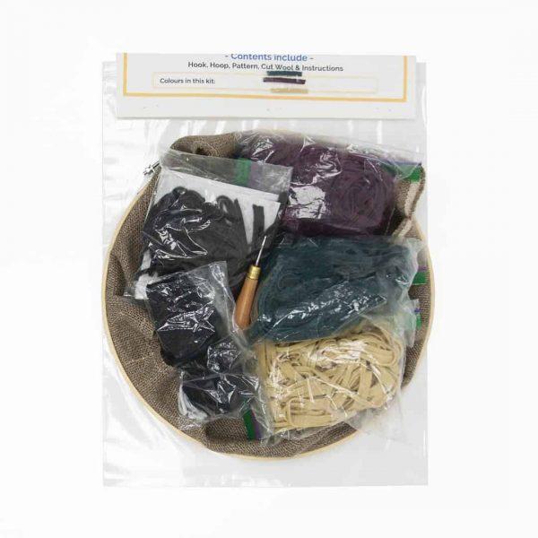 Rug hooking kit - Web - back