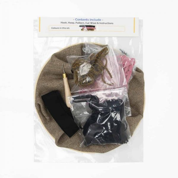 Rug hooking kit - Summer - dusty rose