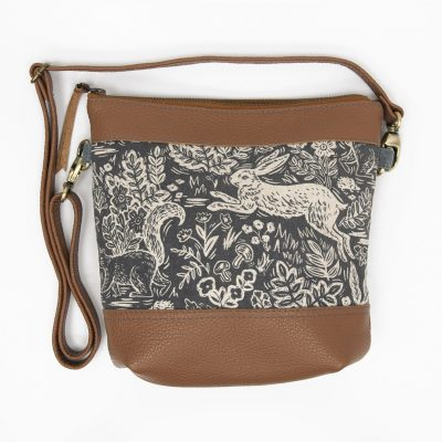 Acorn Crossbody - Leather with Rifle Paper Co Fable