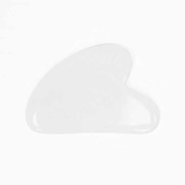 White Quartz Gua Sha Massage Stone